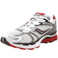 Saucony ProGrid Triumph 7 Mens Progrid Running Shoe,White/Red,8 W