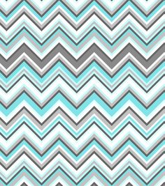 Nursery Fabric-Simply Silhouette  Chevron Flannel, , hi-res