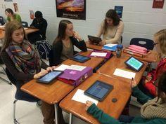 Creating TinyTap games at Powdersville High School
