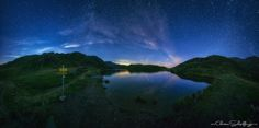 again a panorama from the lake in tyrol-austria.  Nightshot with moonlight  FOLLOW ME: www.facebook.com/christian.schipflinger.photography