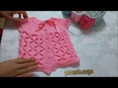 Kastırmalı Bebek Yeleği Nasıl Yapılır? (Baştan Sona Anlatım) - örgü modelleri - YouTube