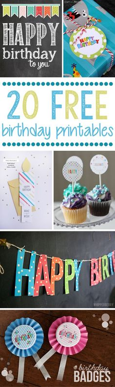 We've rounded up our favorite FREE Happy Birthday Printables! See them all on www.prettymyparty.com.