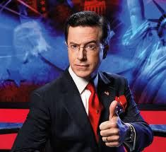 Stephen Colbert--be funny, witty, and have  a quick mind, like his mentor, the also irrepressible....faux news guy...what's his name, also on Comedy Central, who won another Emmy again....