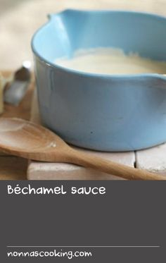 This is the classic way of making a white sauce, using a mixture of butter and flour that the French call a roux. White Sauce Recipes, Bechamel Sauce, Butter, French, Tableware, Classic, Derby, Dinnerware, French Language