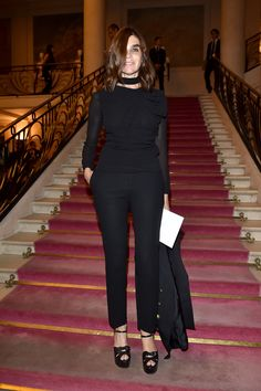 Fendi : Front Row - Paris Fashion Week - Haute Couture Fall/Winter 2015/2016 - Carine Roitfeld