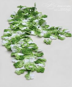 Maybe this free scarf pattern for St. Pat's day instead...  The edging looks like shamrocks!