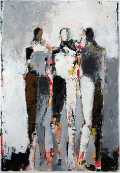 Julie Schumer, Three Figure Study No. Painting People, Figure Painting, Painting & Drawing, Abstract Portrait, Abstract Art, Fleur Design, Modern Art Movements, Watercolor Artists, People Art