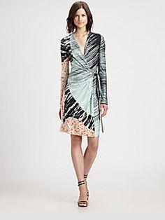 Diane von Furstenberg - Valencia Printed Silk-Jersey Wrap Dress