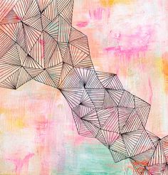 Faultline - Abstract Painting by Lisa Congdon  Perhaps an early birthday present for me??