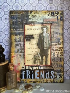 Mixed media assemblage tutorial by Paula Cheney