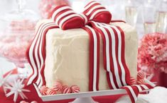 Showstopping Christmas Cake Recipes: there's nothing more festive than our showstopping Christmas cake recipes. End your holiday meal with one of our beautifully garnished cakes (Shown: White Cake with Peppermint Frosting). Holiday Cakes, Holiday Desserts, Holiday Recipes, Christmas Recipes, Christmas Goodies, Christmas Sweets, Holiday Drinks, Party Desserts, Holiday Foods