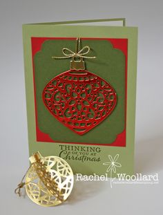 Delicate Ornaments Thinlits Stampin Up Holiday catalogue 2015