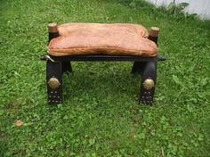 Vintage Leather Footrest Made in Egypt
