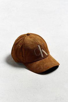 Calvin Klein Tonal Suede Baseball Hat  b20d1a283586