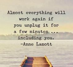 "The Main Reasons Why You Need to Take Time to ""Unplug"" — Parsimony Inspired Motivational Memes, Inspirational Quotes, Down Quotes, Anne Lamott, Say That Again, Positive Inspiration, The Hard Way, Sweet Words, Writing A Book"