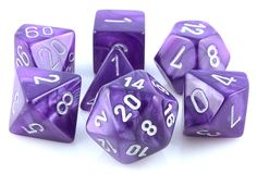 Velvet RPG Role Playing Game Dice Set (Purple). WANT WANT WANT.