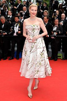 Nadja Auermann at Cannes 2014.