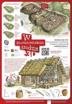 W Gnieźnieńskim Grodzie Medieval Houses, Medieval Life, Concept Artist Portfolio, Middle Ages Clothing, Learn Polish, Village Map, 11th Century, Family Roots, Early Christian