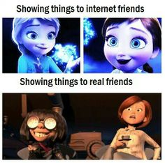 173b3d60c89beb4670fb01d6c24313ab real friends funny friends my friday night,Edna Mode Meme