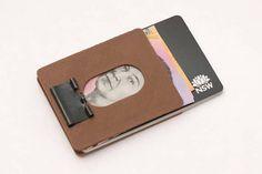 Slim Binder Clip Money Clip Wallet  Custom Orders Available