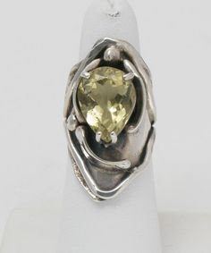 Ring | Donald Marksz. Sterling silver and Citrine