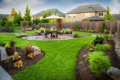 ideas for breaking up large grassy areas. Peterson Property - traditional - landscape - portland - Paradise Restored Landscaping & Exterior Design