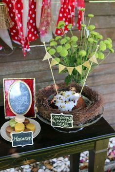 Christmas dessert table with frame