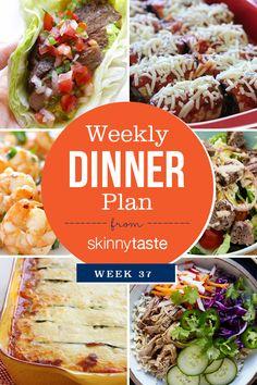 Skinnytaste Dinner Plan (Week 37)