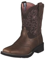 My wedding boots when/if i get married. :) Ariat Ladies Brown Rebel Square Toe Ranchbaby Boot