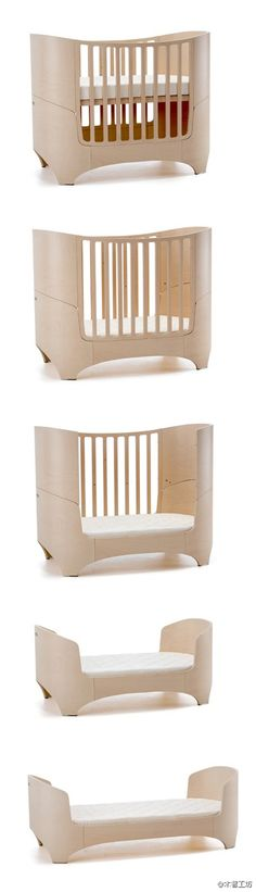 Can make a different change in the crib with the child's growth, Denmark, the Leander baby bed