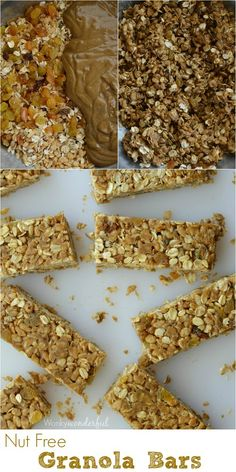 No-Bake Homemade Nut Free Granola Bars : Cinnamon Raisin : Healthy Kid Snack : Gluten Free Recipe #SnacktoSchool  #LoveYourRaisins #ad