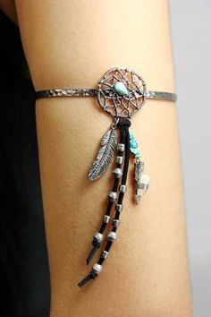 Dream Catcher with Feather and Arrow Arm Cuff