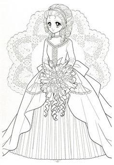 Japanese Shoujo Coloring Book 3 - Mama Mia - Álbuns da web do Picasa Princess Coloring Pages, Coloring Book Art, Cute Coloring Pages, Printable Adult Coloring Pages, Coloring Pages For Girls, Disney Coloring Pages, Halloween Coloring Pages, Anime Princess, Color Activities
