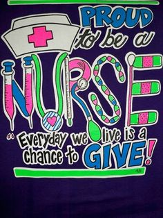 Southern Chics Proud to be a Nurse CNA RN LPN RNA Chance to Give Girlie Bright T Shirt Available in sizes Adult Picture is of the back of the shirt, Front Nursing School Shirts, Lpn Nursing, Nursing Care Plan, Nursing Notes, Rn Nurse, Nurse Life, Nurse Humor, Nurse Stuff, Medical Social Work