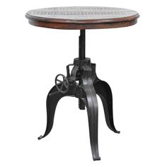 Niketa Crank Table with 30-inch Reclaimed Wood Top - Overstock Shopping - Great Deals on Kosas Collections Coffee, Sofa & End Tables