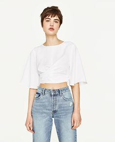 CROPPED TOP WITH BOW
