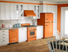 Vibrant orange? Big Chill retro fridges, stoves and dishwashers come in eight vibrant colors—and more than 200 custom shades. What's your color? #BigChill