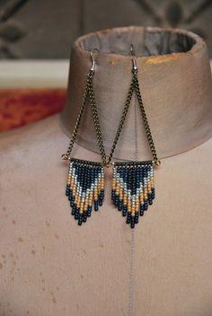 Beaded Chevron Earrings [more colors]