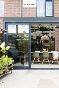 Backyard Hammock, Backyard Patio, Terrace Design, Patio Design, Glass Conservatory, Cosy House, House Extension Design, Small Garden Design, Glass Roof