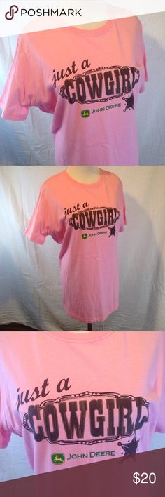 Large 12/14 John Deere pink tee  This size large John Deere T-shirt is in excellent used condition. Please see photos. Please ask any questions before purchasing. John Deere Tops Tees - Short Sleeve