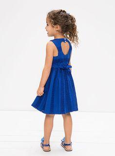 Pumpkin Patch - - cut out back dress - S5TG80005 - classic cobalt - 12-18m to 6
