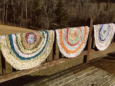 rag rugs from vintage sheets