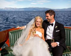 #boat  Photography: Jonathan Young - jyweddings.com  Read More: http://www.stylemepretty.com/little-black-book-blog/2014/08/12/classic-lake-tahoe-wedding/