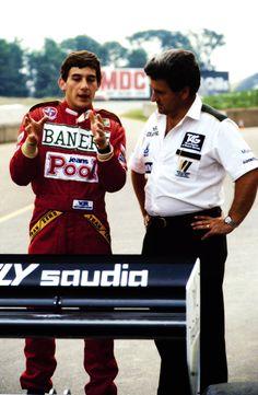 Ayrton Senna during his Williams test in 1983
