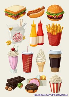 Buy Set of Colorful Cartoon Fast Food Icons by moonery on GraphicRiver. Set of colorful cartoon fast food icons. Science Cartoons, Instalation Art, Michael Pollan, Food Cartoon, Food Icons, Food Drawing, Screwed Up, Food Illustrations, Cute Food