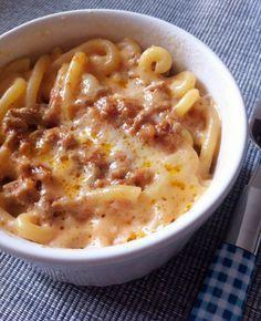 gramignia con la salsiccia - gramignia (short pasta) with sausage