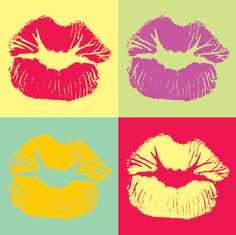 Pop art - kisses