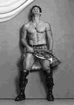 men in kilts...as long as they come with the accent too!