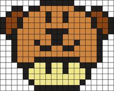 Kandi Patterns for Kandi Cuffs - Newest Pony Bead Patterns Fuse Bead Patterns, Kandi Patterns, Perler Patterns, Beading Patterns, Easy Pixel Art, Pixel Art Grid, Pixel Art Templates, Perler Bead Templates, Pixel Art Champignon