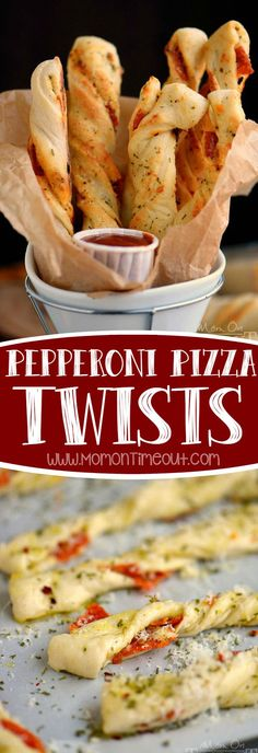 Perfect for game day celebrations or a fun, kid-friendly dinner, these Pepperoni Pizza Twists are guaranteed to become a new family favorite! Easy, cheesy, awesomeness!